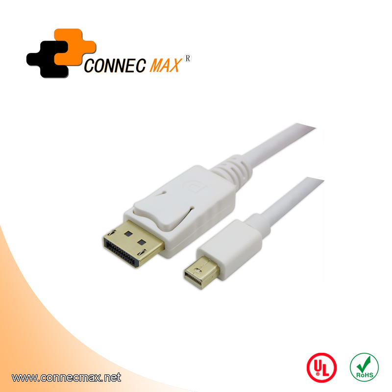 Mini DisplayPort to DisplayPort Male to Male Cable