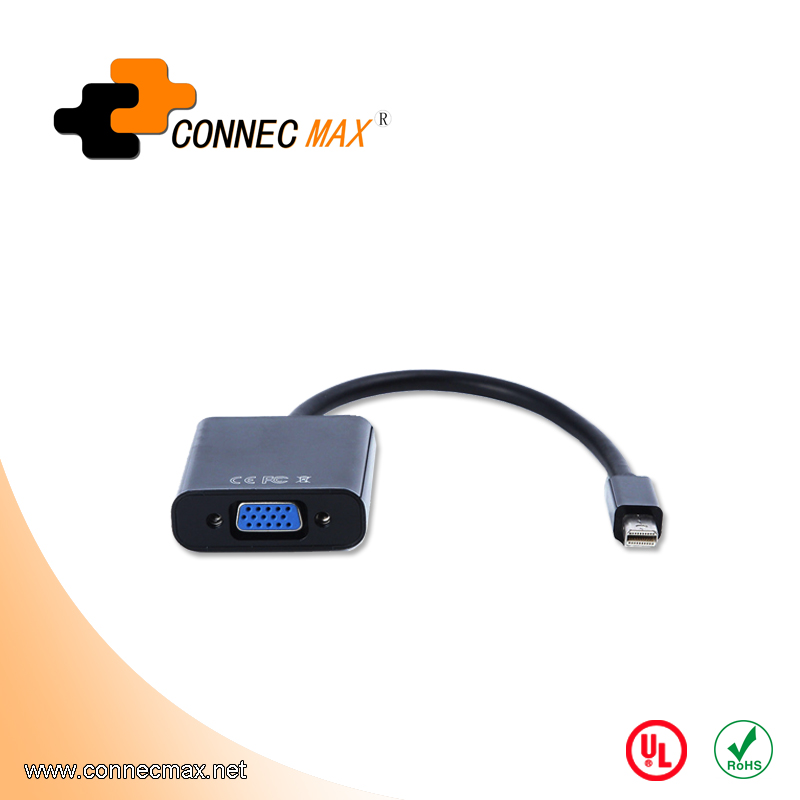 Mini displayport to VGA male to female cable