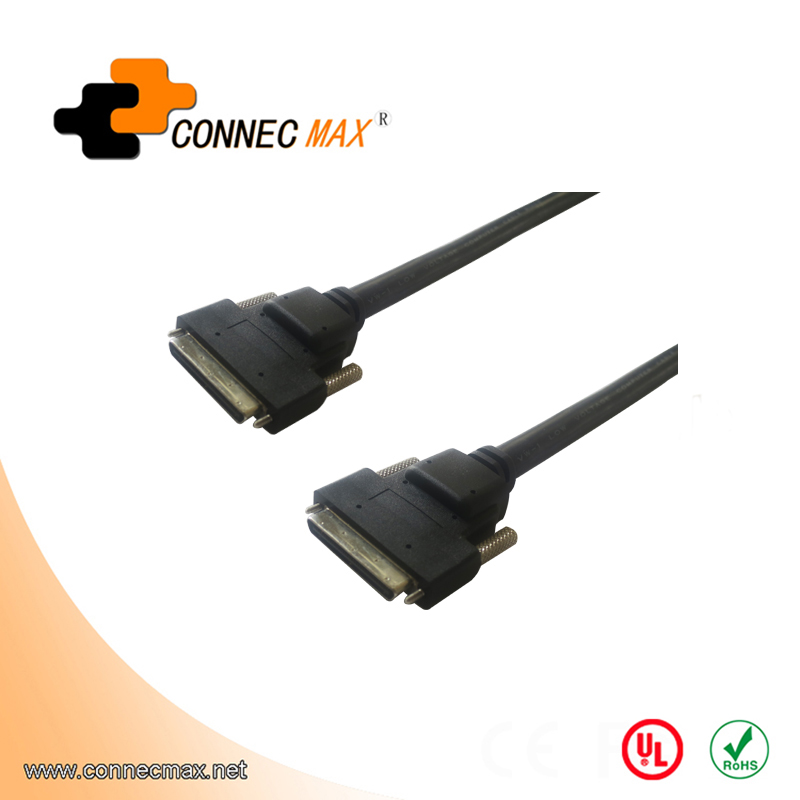 VHDCI 68Pin M/M cable with Screw, Molding Type