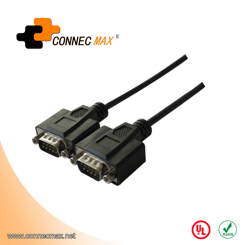DB9 male to male cable with Screw Nut