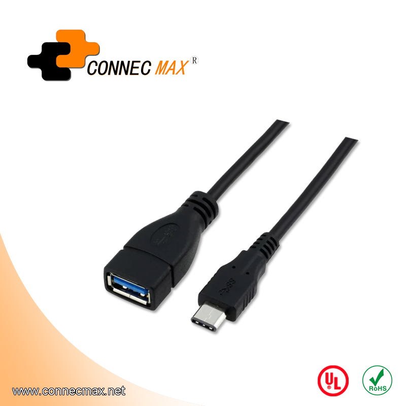 USB 3.1 type C to USB 3.0 AF male to female cable