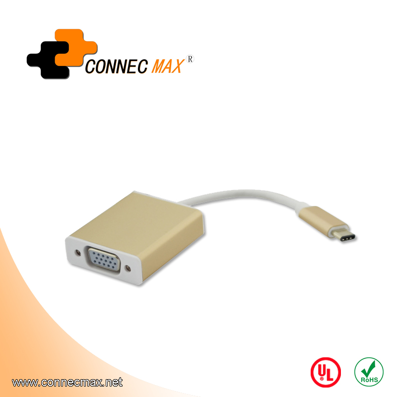 USB 3.1 type C to VGA male to female converter