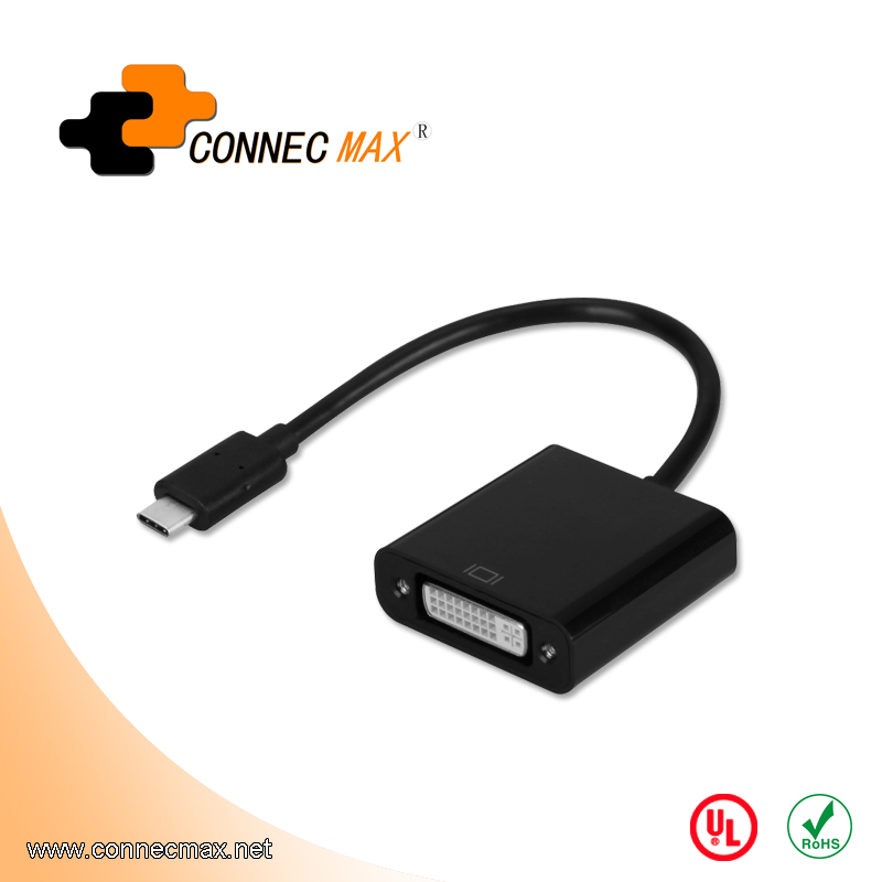USB 3.1 type C to DVI male to female converter