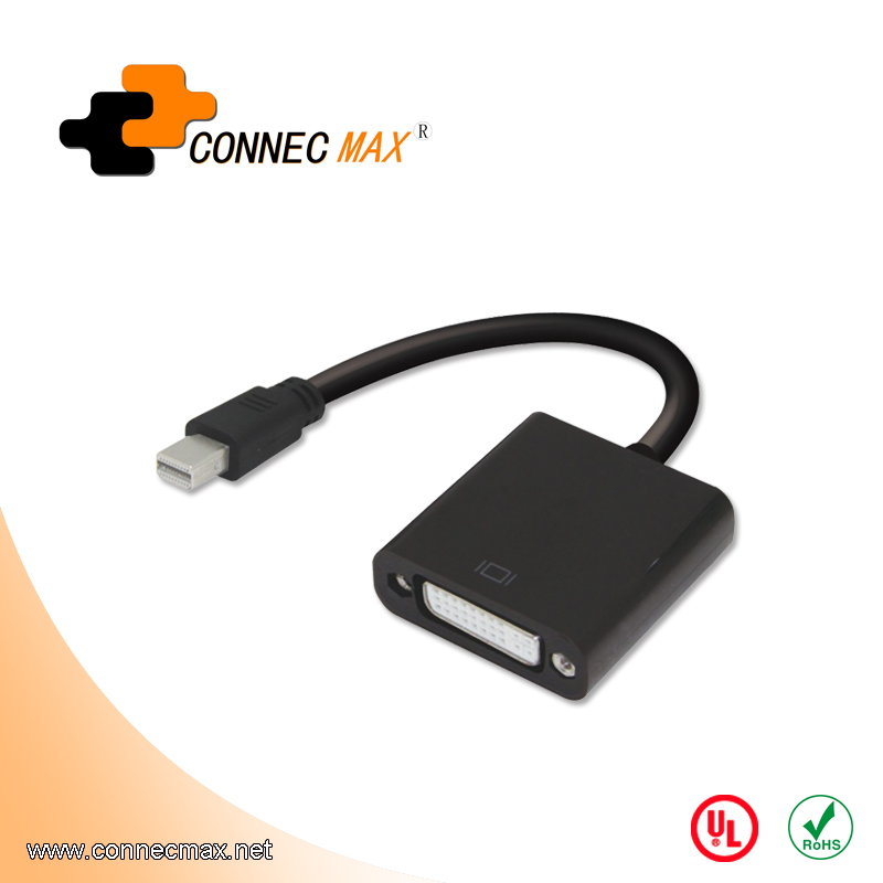 Mini displayport to DVI male to female adapter converter