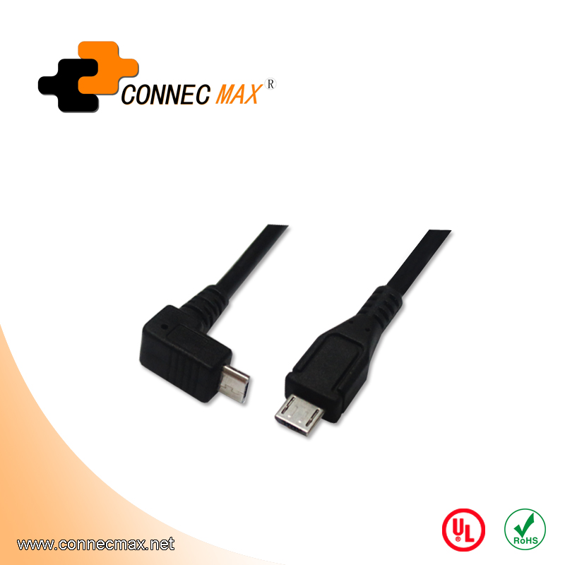 USB 2.0 90 Degree Angle Micro Cable