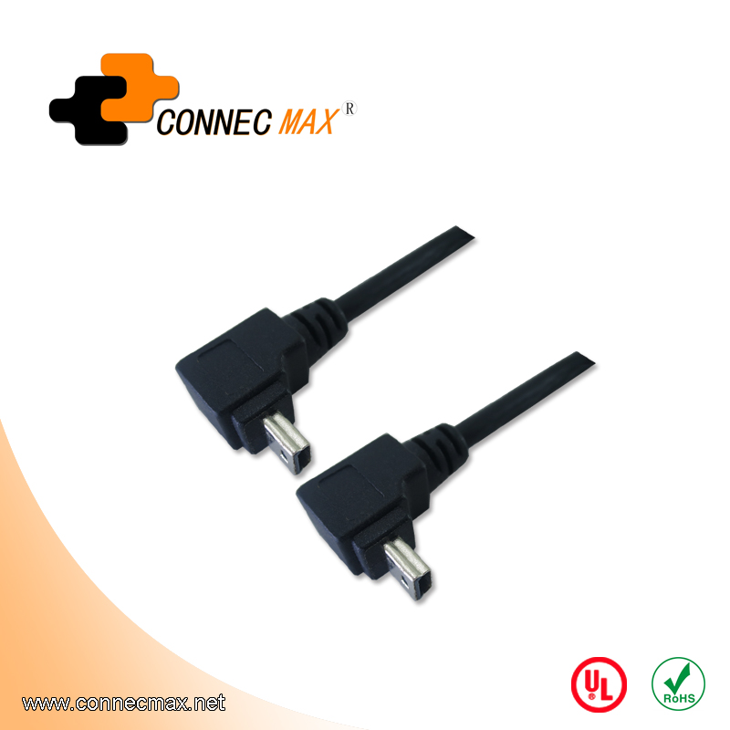 USB 2.0 Right Angle Mini 5 Pin Cable