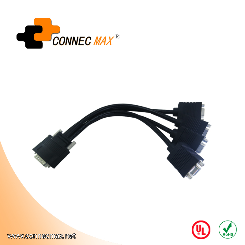HD60 Male to 4 VGA Female Splitter Cable
